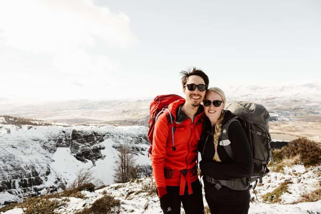 Cat & Menno Ekkelboom hiking in Torres del Paine national park in Patagonia, Chile