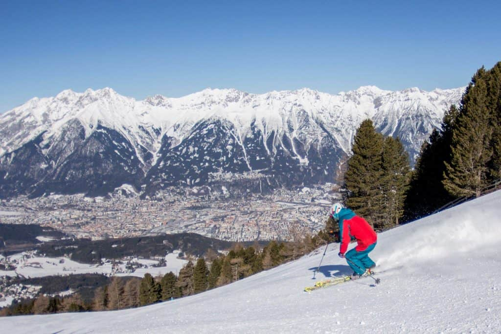 skiing on the Patscerkofel
