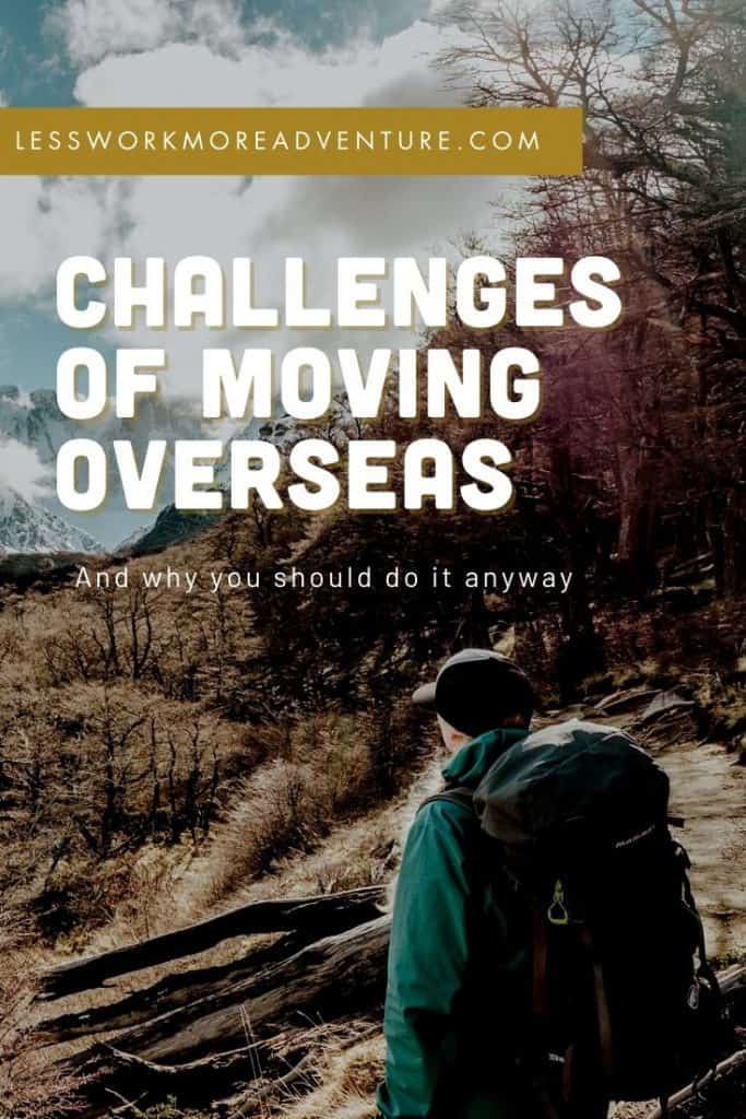 challenges of moving overseas pinterest graphic