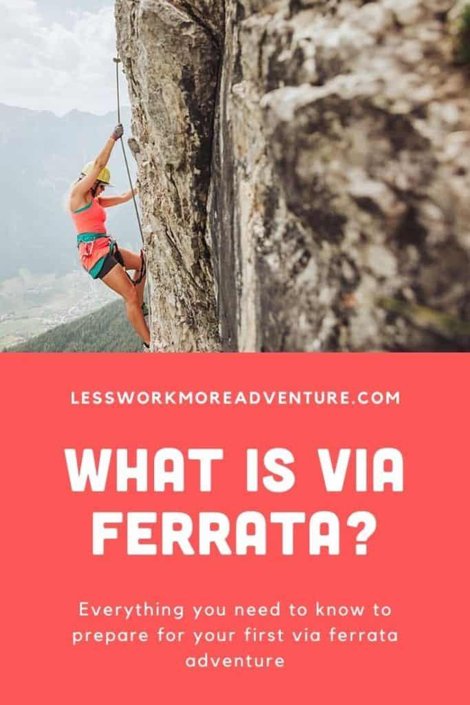 What is via ferrata pin graphic