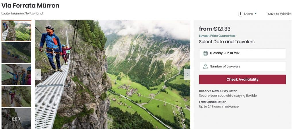 Via ferrata mountain guide in Mürren in Switzerland on Viator